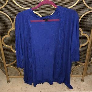 Royal Blue Cardigan EUC! 2X